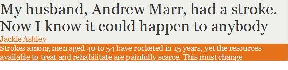 Andrew Marr's Stroke